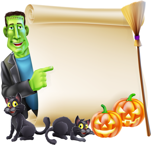 bordures de pages halloween coloring - photo#27